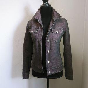 Moschino metallic denim jacket